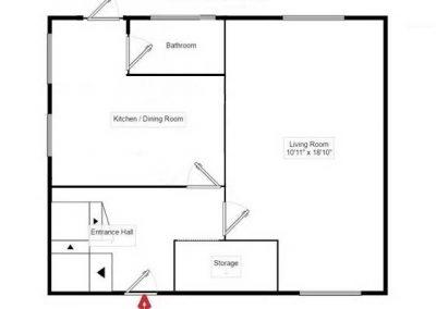 Ground Floor - Doncaster Warren House - Floor Plan